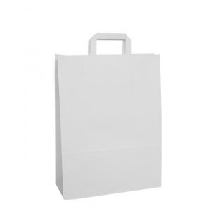 White Tape Handle Paper Carrier Bags