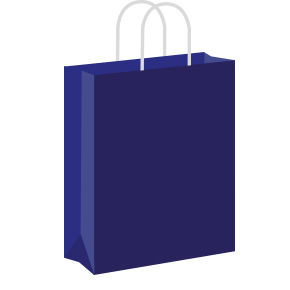 Dark blue Coloured Twist Handle Paper Carrier Bags