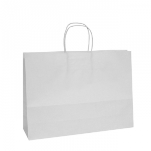 White Twisted Handle Paper Carrier Bags