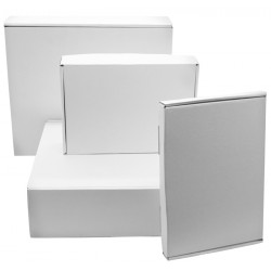 White Corrugated Postal Boxes 120mm