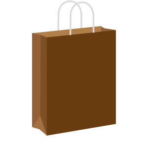 Chocolate Brown Coloured Twist Handle Paper Carrier Bags
