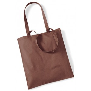 Brown Cotton Bags Long Handle