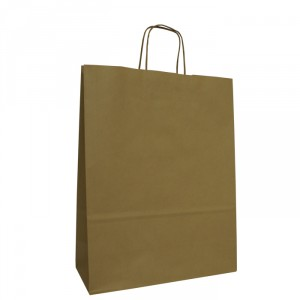 240mm Brown Twisted Handle Paper Carrier Bags