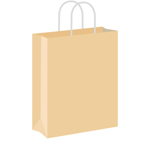 Cream Coloured Twist Handle Paper Carrier Bags