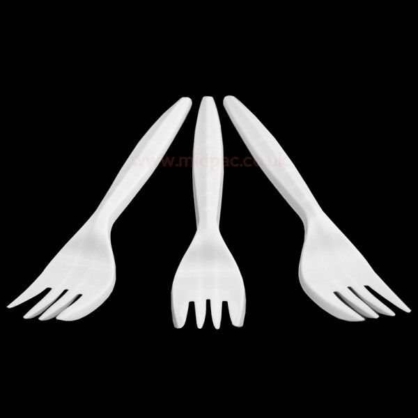 White Disposable Cutlery