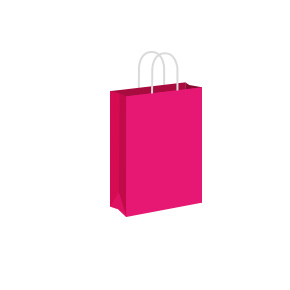 Fuschia Coloured Twist Handle Paper Carrier Bags