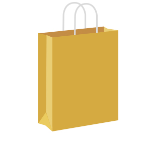 Gold Coloured Twist Handle Paper Carrier Bags