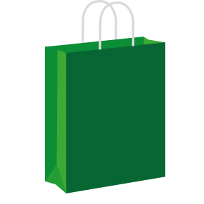 Dark green Coloured Twist Handle Paper Carrier Bags
