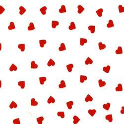 Hearts Patterned Tissue Paper