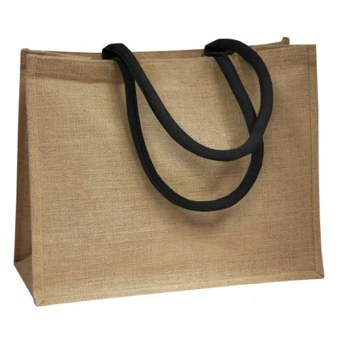 Black Coloured Handle Jute Bag