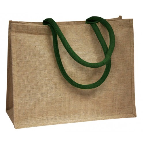 Green Coloured Handle Jute Bag