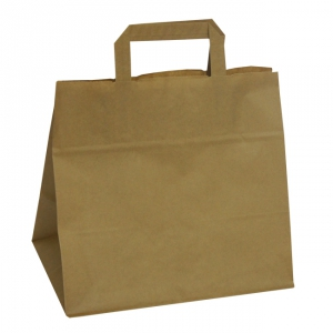 Brown Wide Base Tape Handle Paper Carrier Bags