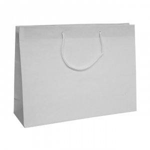 White Recycled Paper Carrier Bags