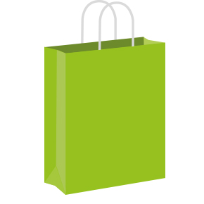 Lime green Coloured Twist Handle Paper Carrier Bags