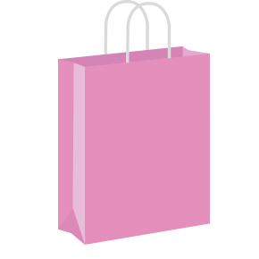 Pastel pink Coloured Twist Handle Paper Carrier Bags