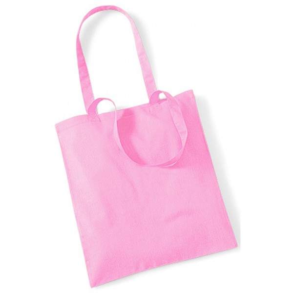 Pink Cotton Bags Long Handle
