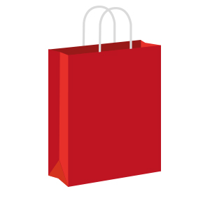 Red Coloured Twist Handle Paper Carrier Bags