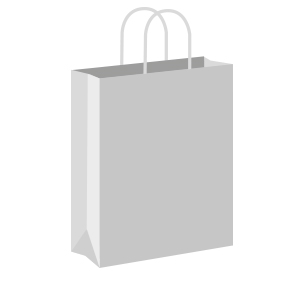 Silver Coloured Twist Handle Paper Carrier Bags