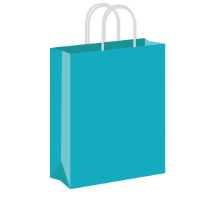 Turquoise Coloured Twist Handle Paper Carrier Bags