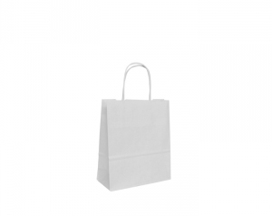 White Twist Handle Bags 140mm