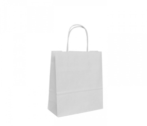 White Twist Handle Bags 180mm