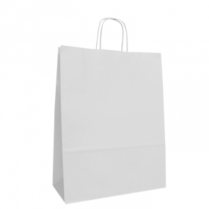 White Twist Handle Bags 240mm
