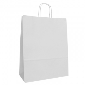 White Twist Handle Bags 320mm
