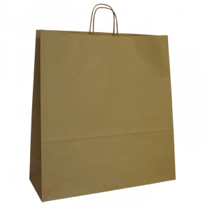 450mm Brown Twisted Handle Paper Carrier Bags