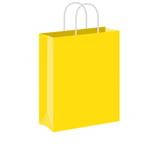 Yellow Coloured Twist Handle Paper Carrier Bags